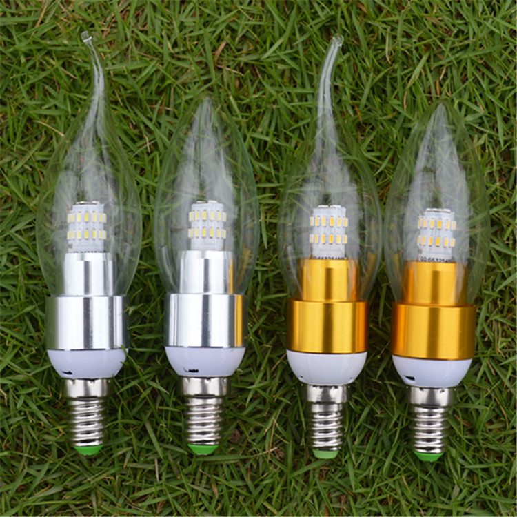 New Design 3W E14 220V 110V AC Dimmable LED Filament Candle Bulbs CRI 80 360 Degree 1pcs/lot Free Shipping(China (Mainland))