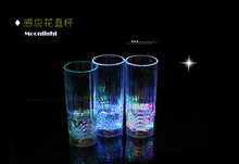 Creative Birthday Gift Colorful LED Flashing Crystal Acrylic Drink Cups LED Water Induction Mug