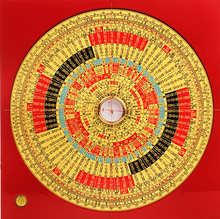 Copper Brass CHINESE crafts decor ation Asian crafts copper Bronze art Integrated compass trihydric(China (Mainland))