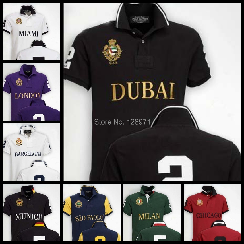 free shipping 2015 Big horse Polo shirt men POLO shirts cotton short sleeves casual style sportswear for sport men shirts S-XXL(China (Mainland))