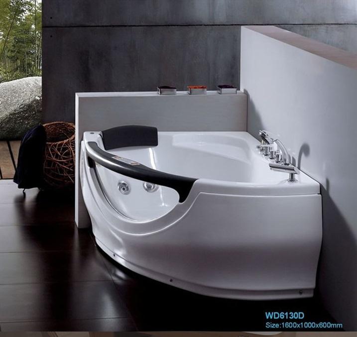 Popular corner jetted bathtubs buy cheap corner jetted bathtubs lots from china corner jetted - Triangular bathtub ...