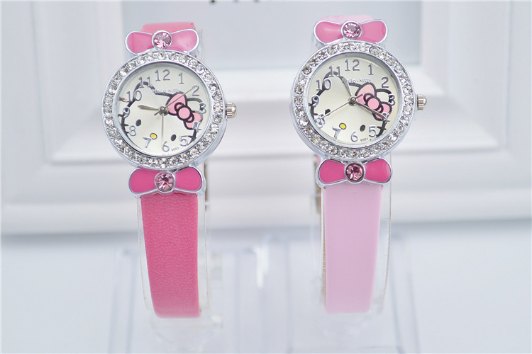 Newest Fashion Candy Colors Children Quartz Watch Casual Girls Cartoon Hello Kitty Wristwatches Best Christmas Gifts(China (Mainland))