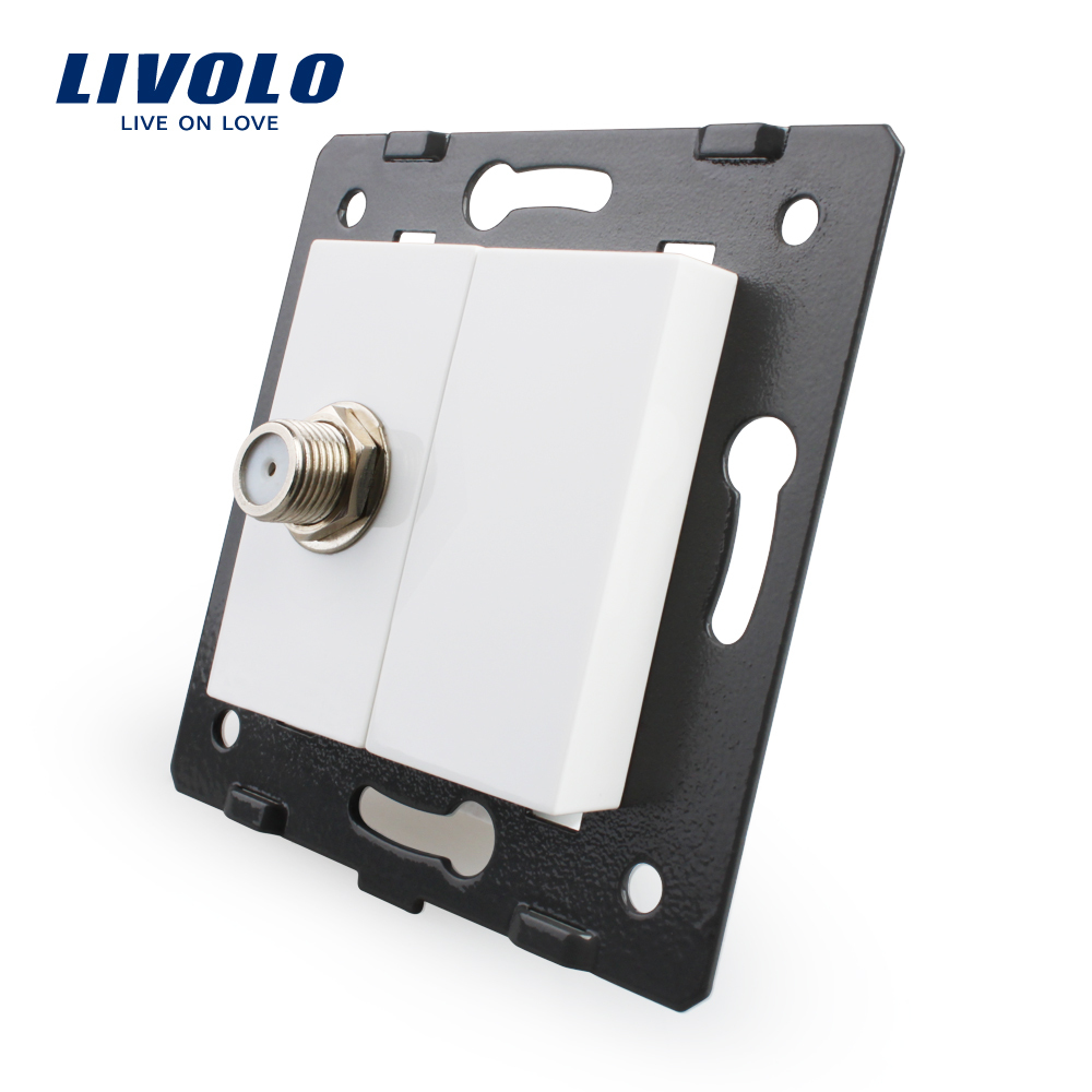Free Shipping, Livolo White Plastic Materials, EU Standard, Function Key For Satellite TV Socket,VL-C7-1ST-11(China (Mainland))