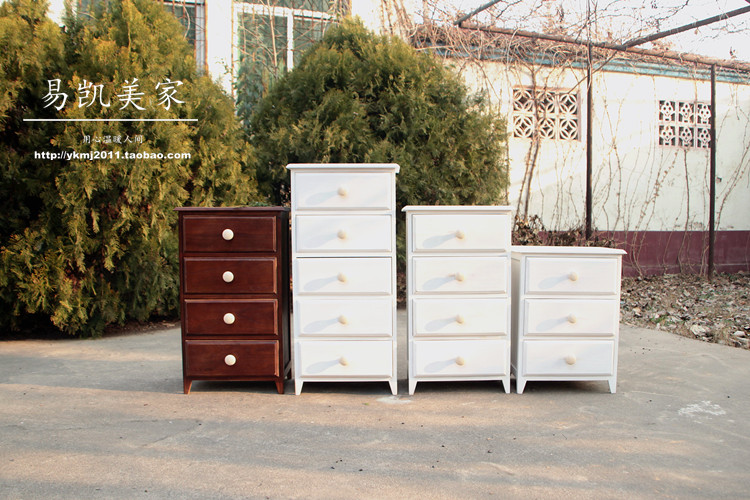Foreign trade the original single european-style solid wood furniture is received Restore ancient ways do old chest of drawers(China (Mainland))