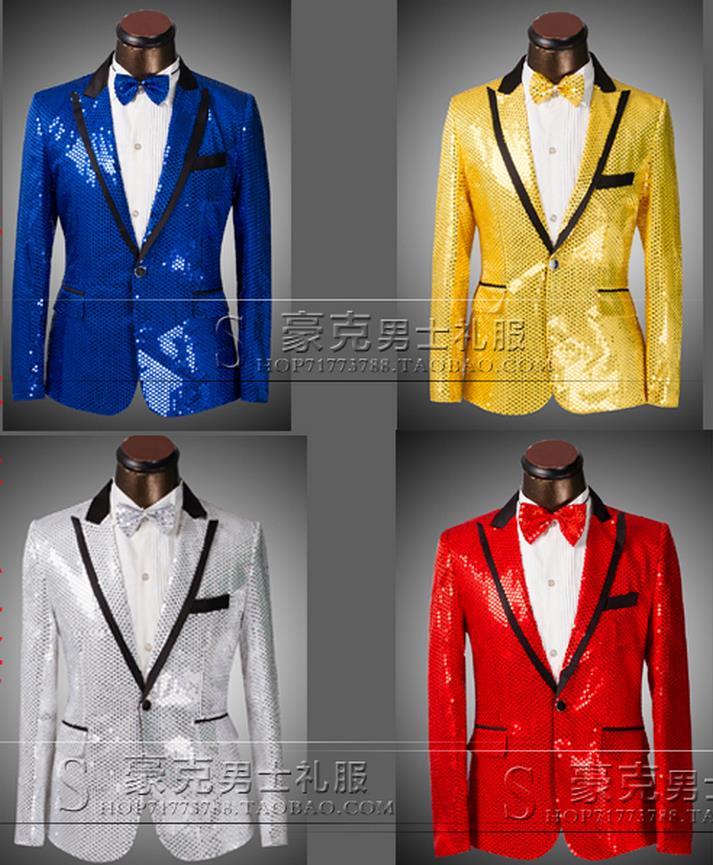 2016 new arrival color paillette slim men suit set with pants mens suits wedding groom formal dress mens suits + pant + tie 4XLОдежда и ак�е��уары<br><br><br>Aliexpress