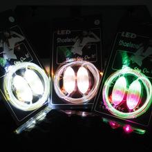 Cool Fashion Light up LED Shoelaces Flash Party Skating Glowing Shoe Laces for Boys Girls 2016 HOT Fashion Luminous Shoe Strings(China (Mainland))