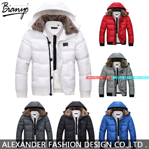 2015 New Men Down Coat Men's Coat Winter Overcoat Outwear Winter Jacket Hooded Thick Fur Jackets Outdoor Free Shipping(China (Mainland))
