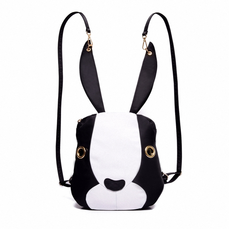 2016 New Popular High Quality Nylon Women Backpacks Cute Rabbit Woman Reduced Age Backpack Teenagers Girls Shoulder Bag