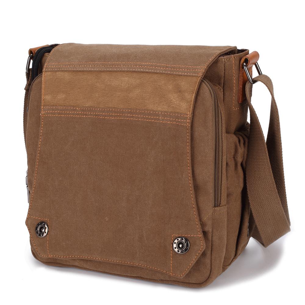 2016 New Men Canvas Bag Vintage Messenger Bag Brand Business Handbags Casual Male Satchel Travel Shoulder Bag Men Crossbody Bag(China (Mainland))