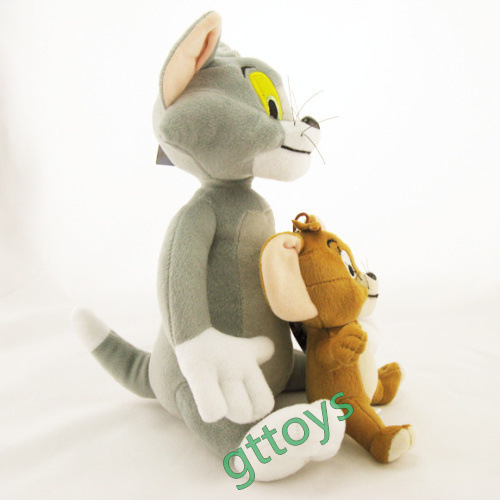 2pcs/set Baby Toys Cat Tom And Jerry Mouse Plush Stuffed Toys Dolls Boneca Pelucia Brinquedos Learning&Education toys For Kids,(China (Mainland))