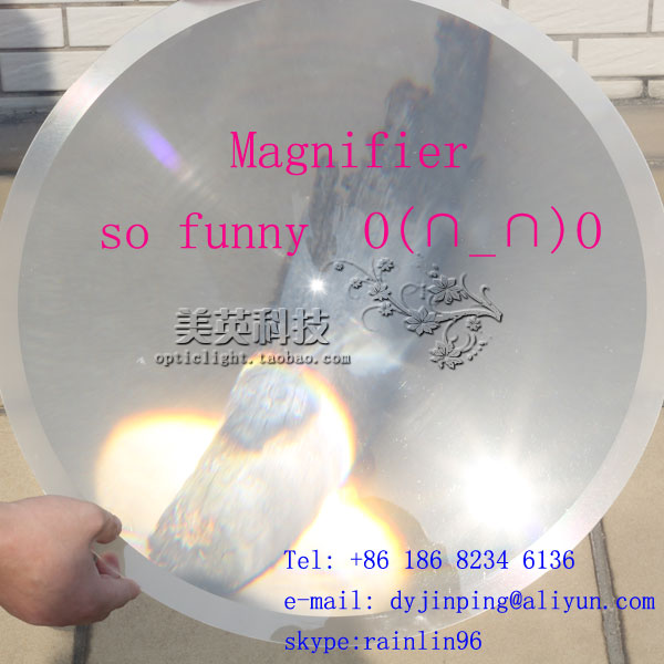 Fresnel lens:D380 F450mm  ,PMMA ( acrylic)material,big size long focus lens for solar collecting