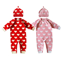 Autumn Baby Romper Infant One Piece Romper Suit Long Sleeve Jumpsuit Heart Print Baby Girl Baby