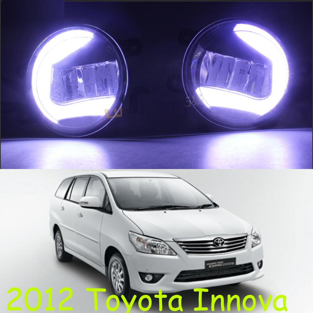 Osram 2012Toyota Innova LED daytime running light,2pcs+wire of harnes,12V,7W DRL 8000K+15W 6000K Fog,alloy+ABS,Free ship<br><br>Aliexpress