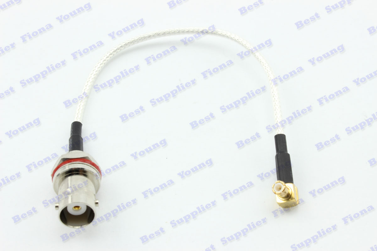 50 pcs\lot White RG179 14cm Extension Cable Straight BNC Female to Right Angle MCX Male Connector Pigtail Cable Free Shipping<br><br>Aliexpress
