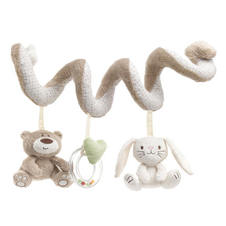 High quality Cute bear Infant Baby Rattles Hanging Educational Toys Doll Bed Stroller Seat Baby Play Toys With Fashion Design(China (Mainland))