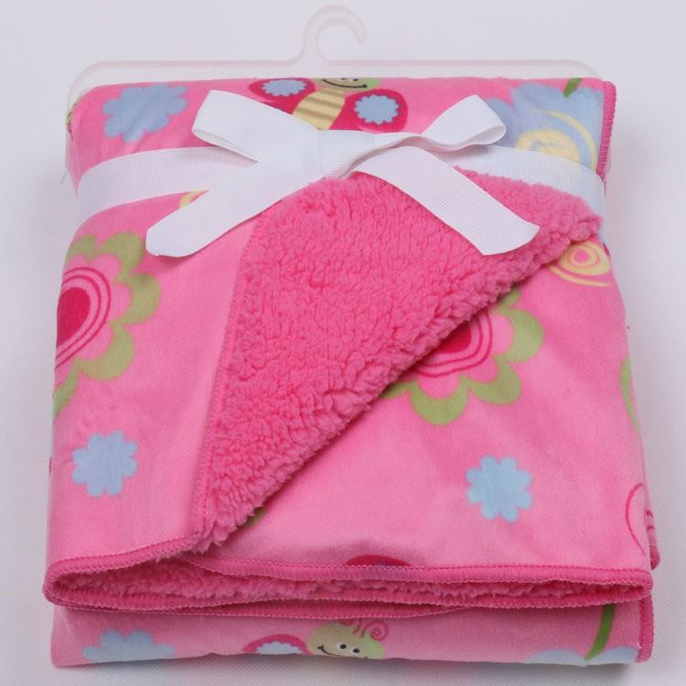 Baby blanket newborn swaddle wrap Super Soft baby nap receiving blanket animal manta bebe cobertor blanket on the bed of fur