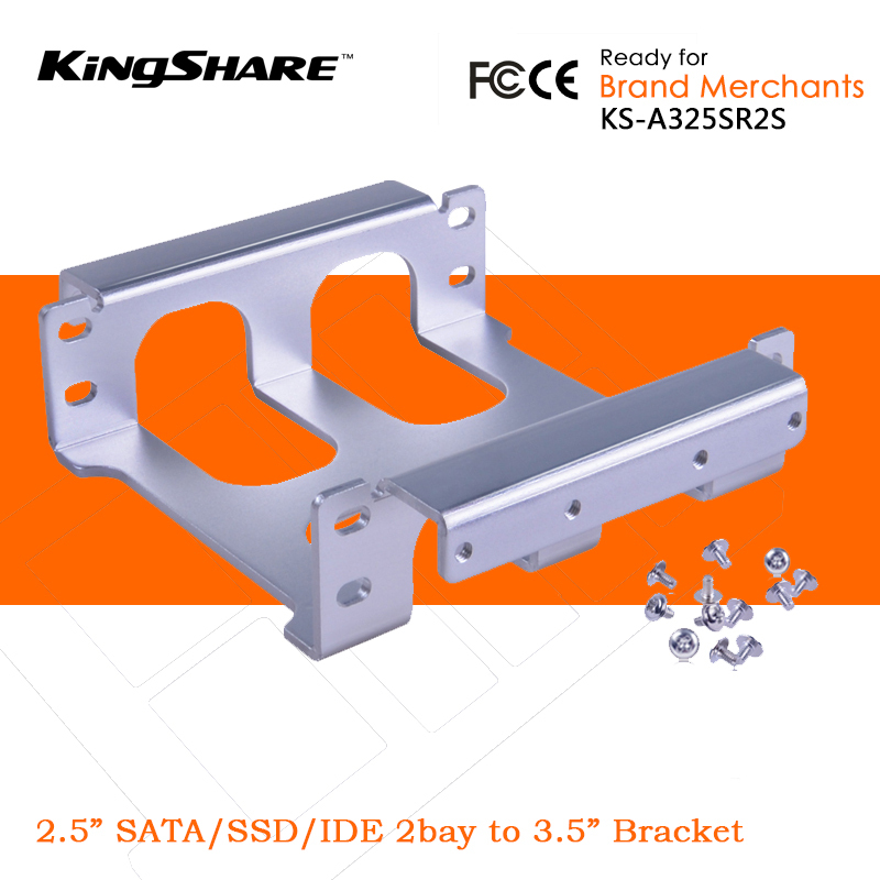 """KingShare 2Bay 2.5"""" 2.5 Inch SSD / IDE / HDD to 3.5"""" Hard"""