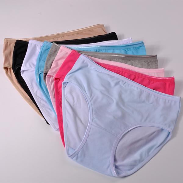 Anti Bacterial 95 Cotton Solid Sexy Briefs Women Underwear Natural Color Comfortable Women Panties 224