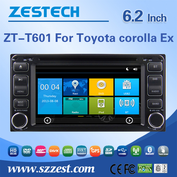 6.2 inch A8 chipset pioneer car audio for Toyota sienta dvd player car gps music player with GPS, Radio, BT, DTV, SWC, ATV, Wifi(China (Mainland))