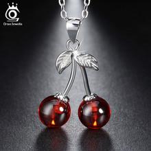 Стерлингового Серебра 925 Красный Агат Вишня Кулон Ожерелья для Женщин Подлинная Серебряные Ювелирные Изделия Подарок SN03(China (Mainland))