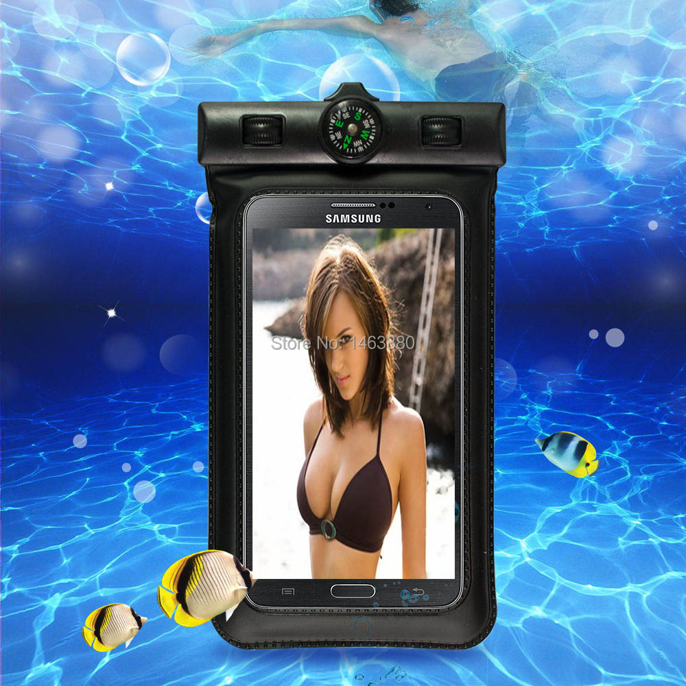 100% sealed Waterproof Durable Compass Water proof Bag Underwater back cover Case for 4.7