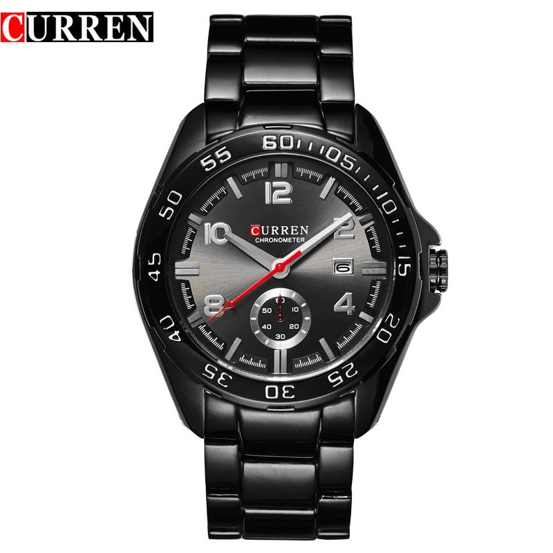 CURREN 8113 10ATM Waterproof Date Display Mutiple Dials Steel Strap Wrist Quartz Watch For Man(China (Mainland))