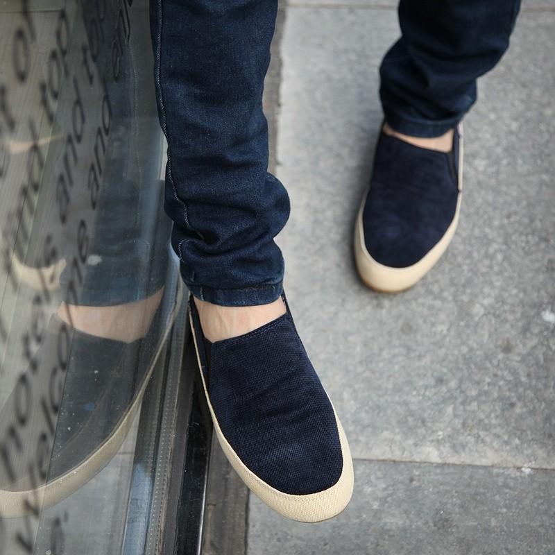Новый лето Весна Англии Мужская Мода обувь Zapato Повседневная обувь Loafer квартиры Slip on обувь 1320