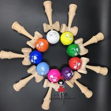 TWB retail Pearlescent pu paint tips ball kendama Professional game top quality smiley face(China (Mainland))