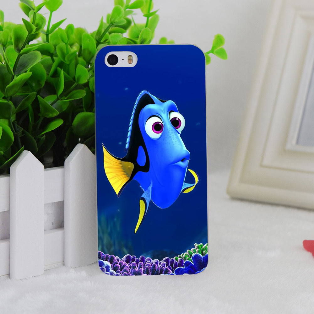 A1282 Dory Just Keep Swimming Design Transparent Hard Thin Case Cover For Apple iPhone 4 4S 5 5S SE 5C 6 6S 6Plus 6s Plus(China (Mainland))