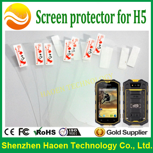 H5 Screen Protector for Rugged cellular phone h5 protective film for H5 A8 A9 M8 M9 Z6 S5 S6 B15 B30 Rugged smartphone(China (Mainland))