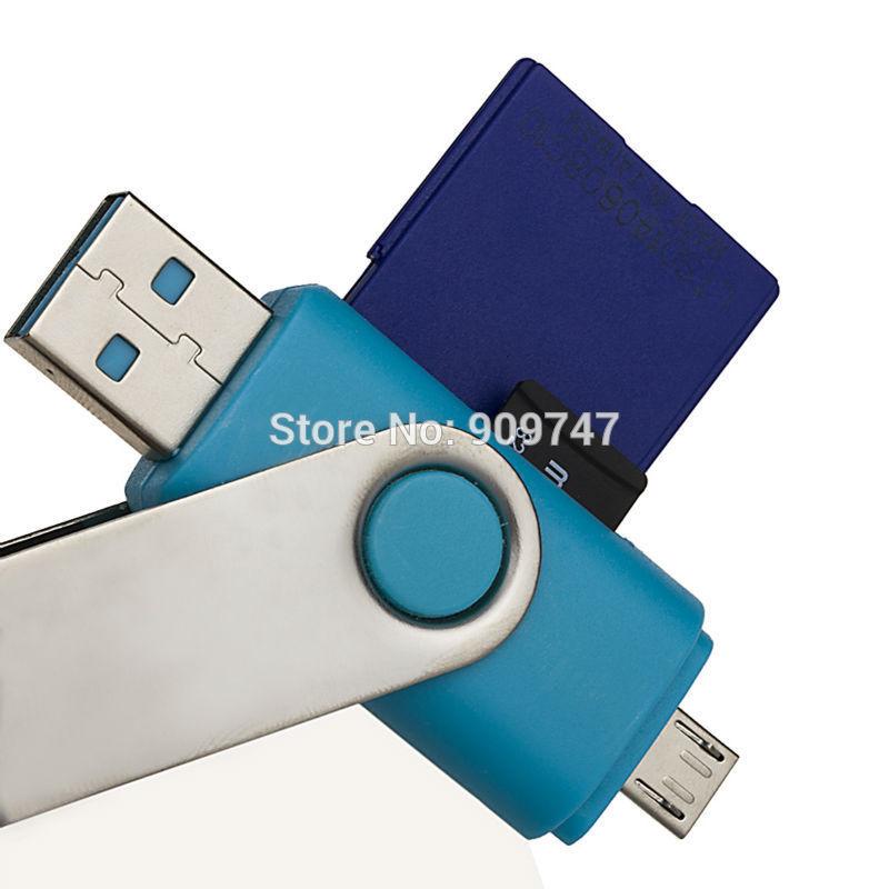 Micro sd OTG Card Reader Universal Micro usb OTG TF/SD Card Reader for phone(China (Mainland))