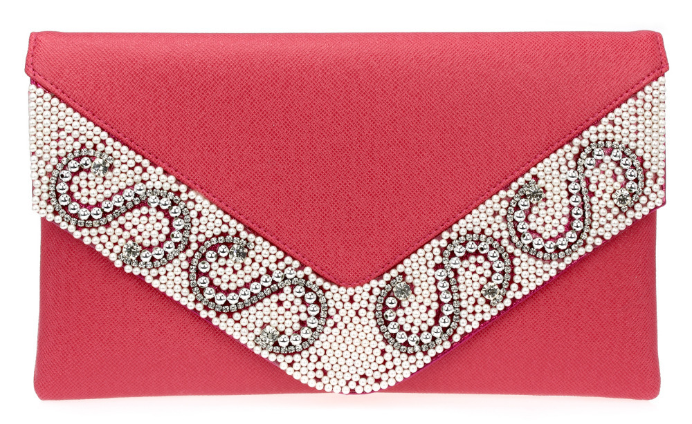 NewS  Womens Fashion Metallic Color Clutches Evening Envelope Bags Gold &amp; Black &amp; Silver &amp; Red 120 cm Chain Crystals V Cover<br><br>Aliexpress