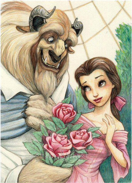 Free Shipping NEW DIY 3D Diamond Painting Beauty And Beast Lover Creative Gift Home Decor Plastic Canvas Crystal Art Craft B404(China (Mainland))