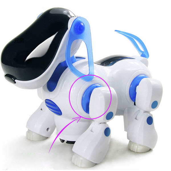 Hot Sale Electronic Walking Pet Robot Dog Puppy Baby Toy Gift With Music Light Dog Toys For Children Kids(China (Mainland))