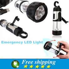 2016 High quality portable emergency lights,dynamo LED flashlight,camping tent lights, multi-function flashlight,(China (Mainland))