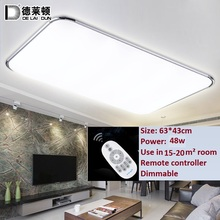 64W dimmable with remote control ceiling light use in 20 to 30 sq meter room home lighting(China (Mainland))
