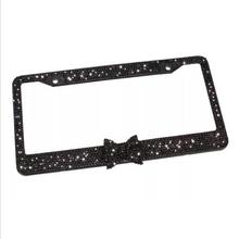 New License Plates frame Black Diamond Bling Glitter Crystal Rhinestone Metal US Car License Plate Frame  8z1180(China (Mainland))
