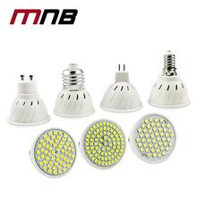 Luminoso e27 e14 mr16 gu10 lampada led lampadina 220 v bombillas led della lampada del riflettore 48led 60led 80led 2835smd lampara spot luce(China (Mainland))