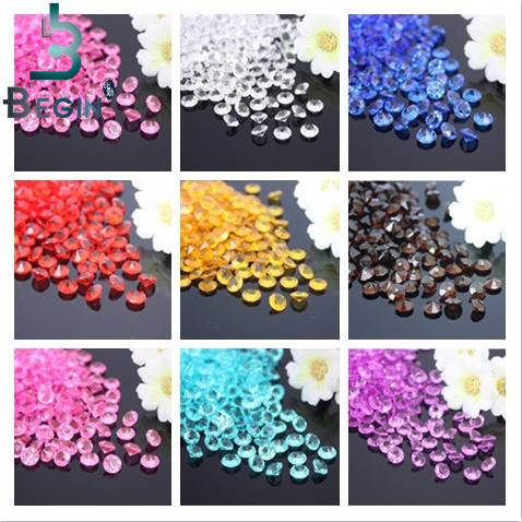 2000PCS 4mm Wedding Decoration Crafts Diamond Confetti Table Scatters Clear Crystals Centerpiece Events Party Festive Supplies(China (Mainland))