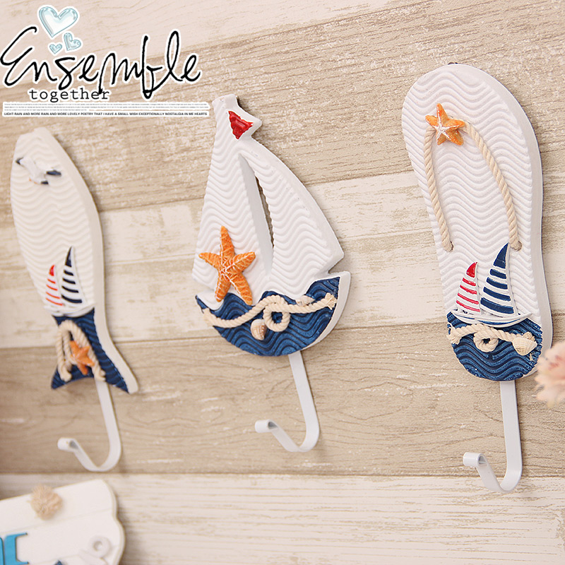 Mediterranean Style Slippers single metal hook, clothing store children's clothing shop home accessories decorative hooks(China (Mainland))