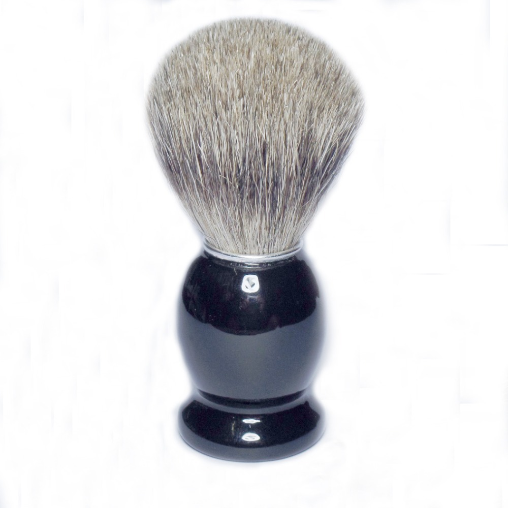 Pure Badger Hair Shaving Brush Shave Beard Brushes with Black Wood Handle for Mens(China (Mainland))