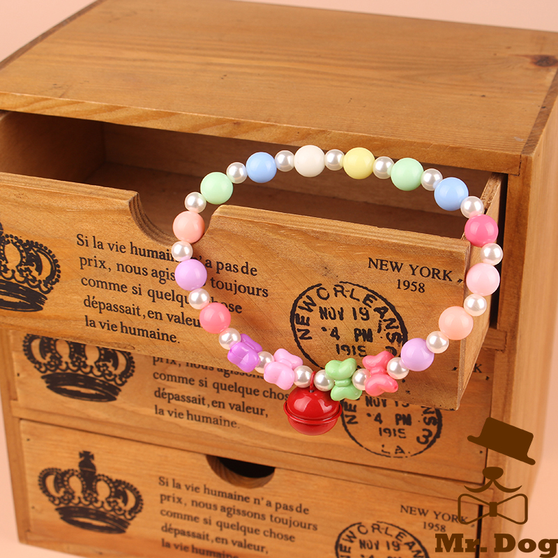 Small Dog Bell Necklace Accessories Bows Pet Hair Dog Hair Elastic Bands Cat Decoration Bows Pet Shop Dog Acessorios(China (Mainland))