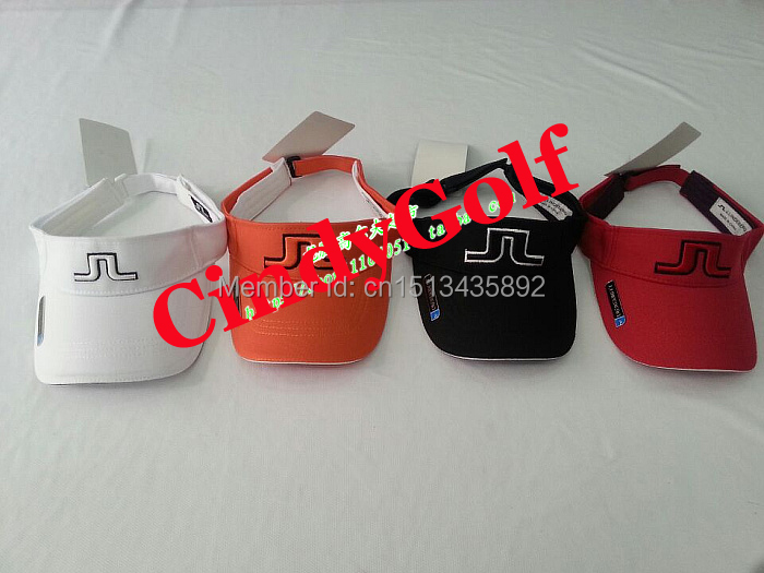 Free Air Mail Shipping Wholesale Discount Golf Items 2016 J L Golf Hat Golf Caps Sun visors 2Pcs/Lot 4 Colors Available