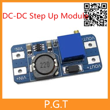 5pcs free shipping MT3608 DC-DC Step Up Power Apply Module Booster Power Module MAX output 28V 2A For Arduino(China (Mainland))