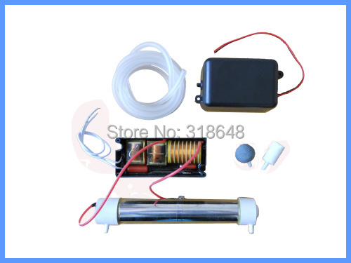 110V/220V Silica Tube Ozone Generator 3.5g/h With Accessory Optional for DIY Air and Water Disinfector+ Free Shipping(China (Mainland))
