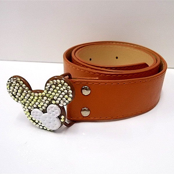 2015 hot sell solid female belts , cartoon buckle beautiful ornament . low price free shipping(China (Mainland))