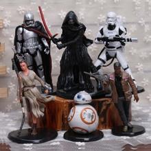 Star Wars The Force Awakens 6 pieces set PVC Figure toy 12 cm Cartoon & Animantion gift movie