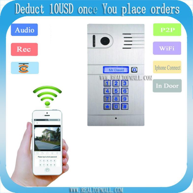 DIY Wireless Wifi IP Video Door Phone Wireless IP Intercom System Home Access Door Open Remote Control Camera Doorbell(China (Mainland))