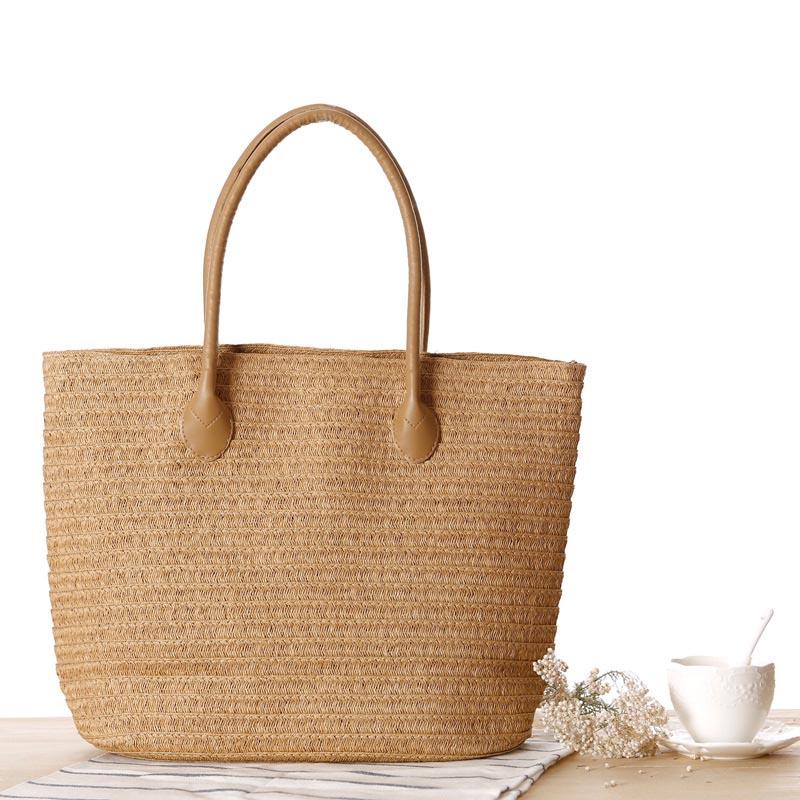 New Summer Fashion Shopping Tote Beach Bag Straw Tote Bag Summer Shoulder Bag Designer Vintage Woven Shopping Hand Bags H420(China (Mainland))