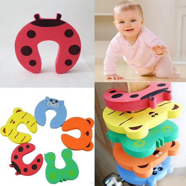 1PCS Hotsale Child kids Baby Animal Cartoon Jammers Stop Door stopper holder lock Safety Guard Finger Protect Free Shipping(China (Mainland))